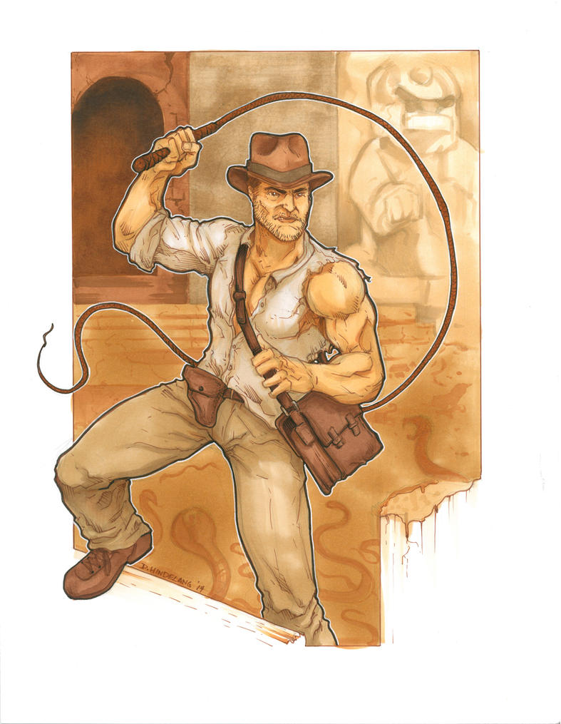 Indiana Jones NC Comicon Commission by DKHindelang