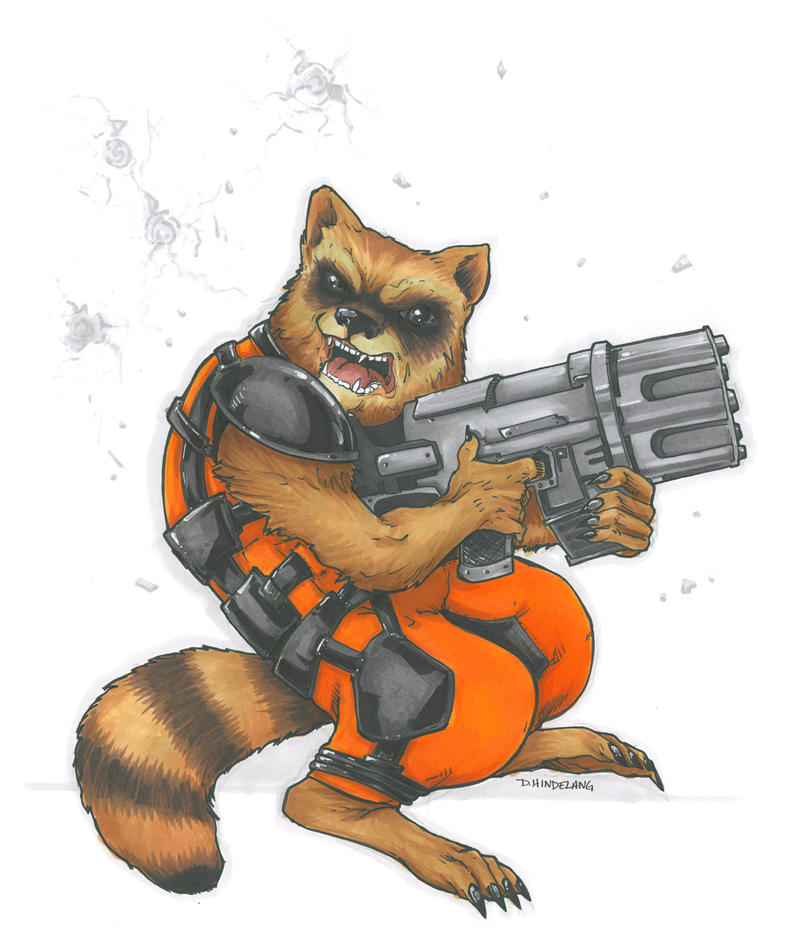 Rocket Racoon 2014 Commission by DKHindelang