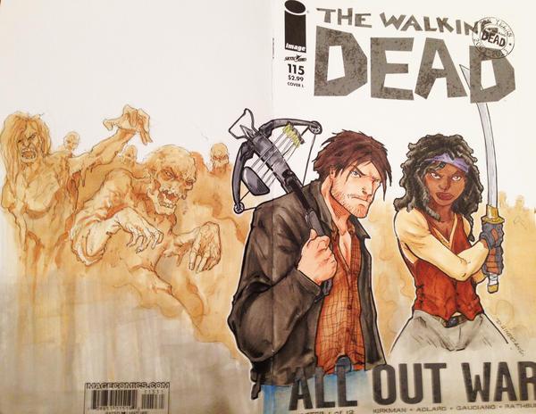 Walking Dead Sketch cover VA Comicon 2014 by DKHindelang