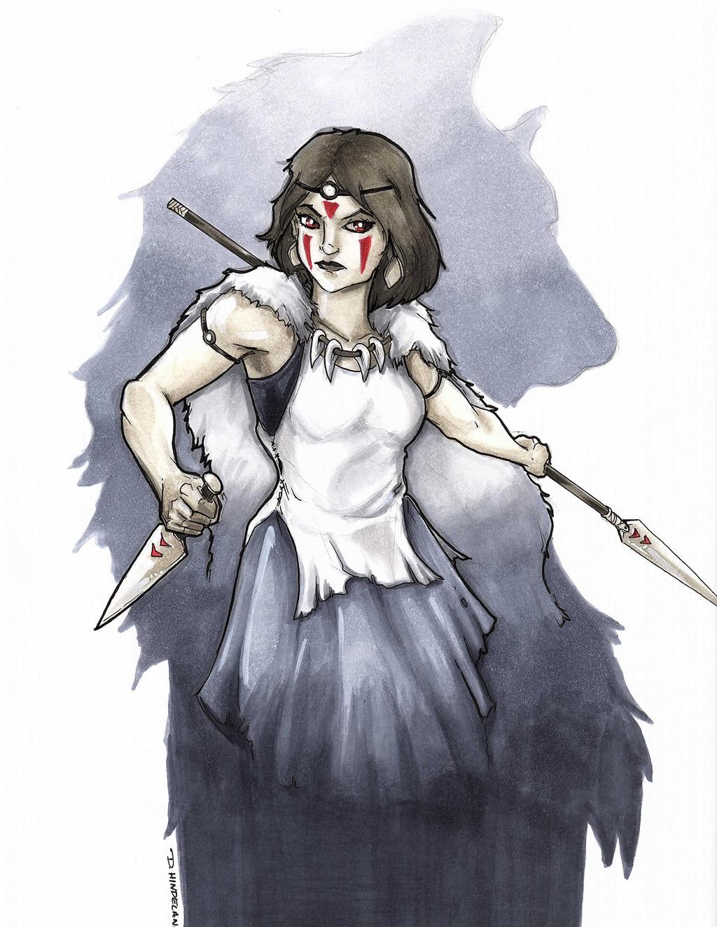 Princess Mononoke by DKHindelang