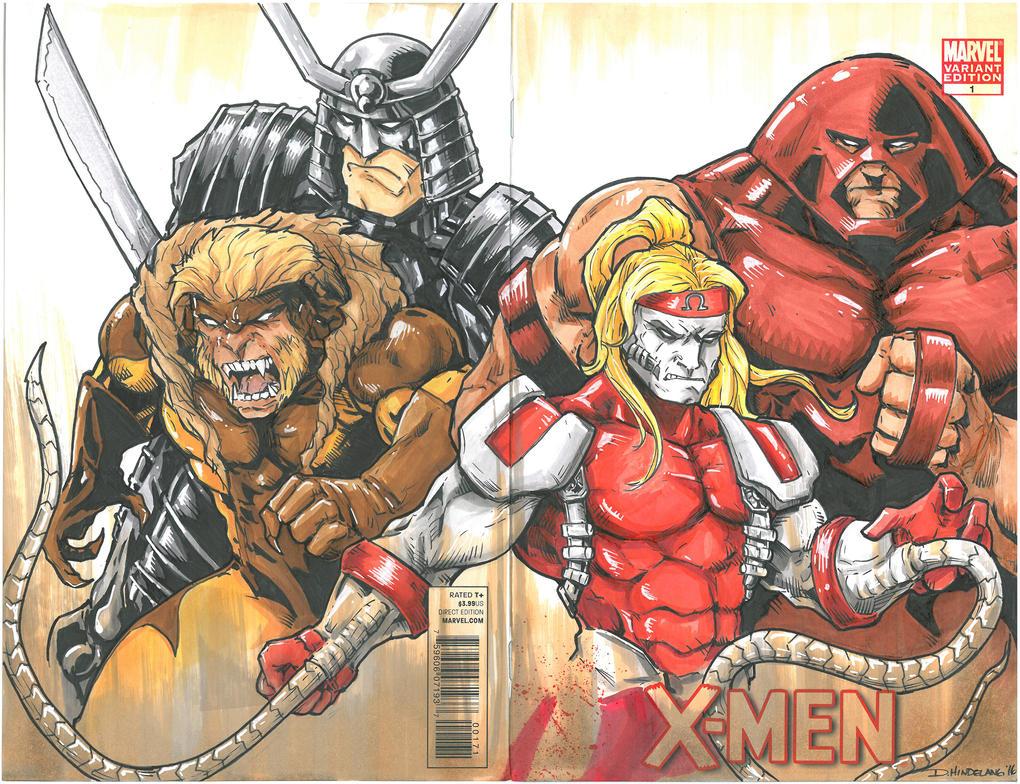 X-Men Four Villains -II Sketchcover by DKHindelang