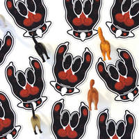 Rock On Paw Magnets