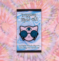 Tripping Mew Out Enamel Pin