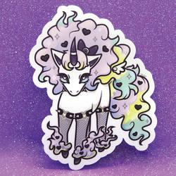 Galarian Pastel Goth Ponyta Sticker