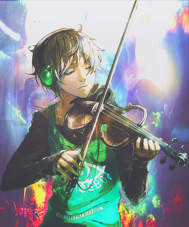 Wallpaper Anime Music By Danykuchiki On Deviantart