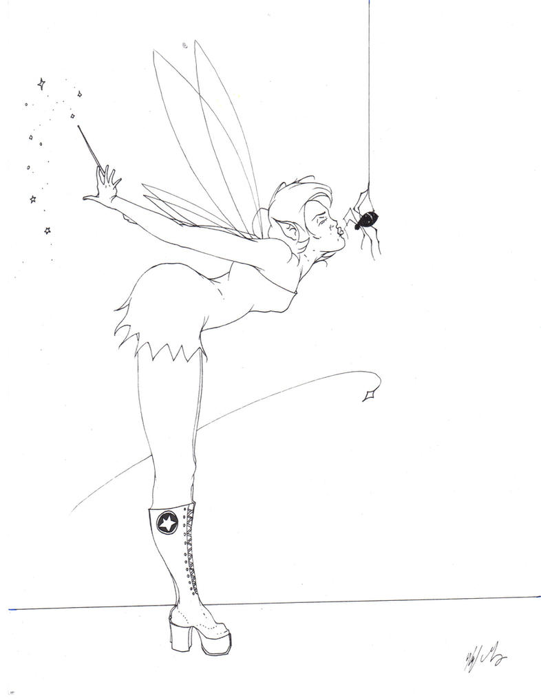 emo tinkerbell coloring pages - photo#5