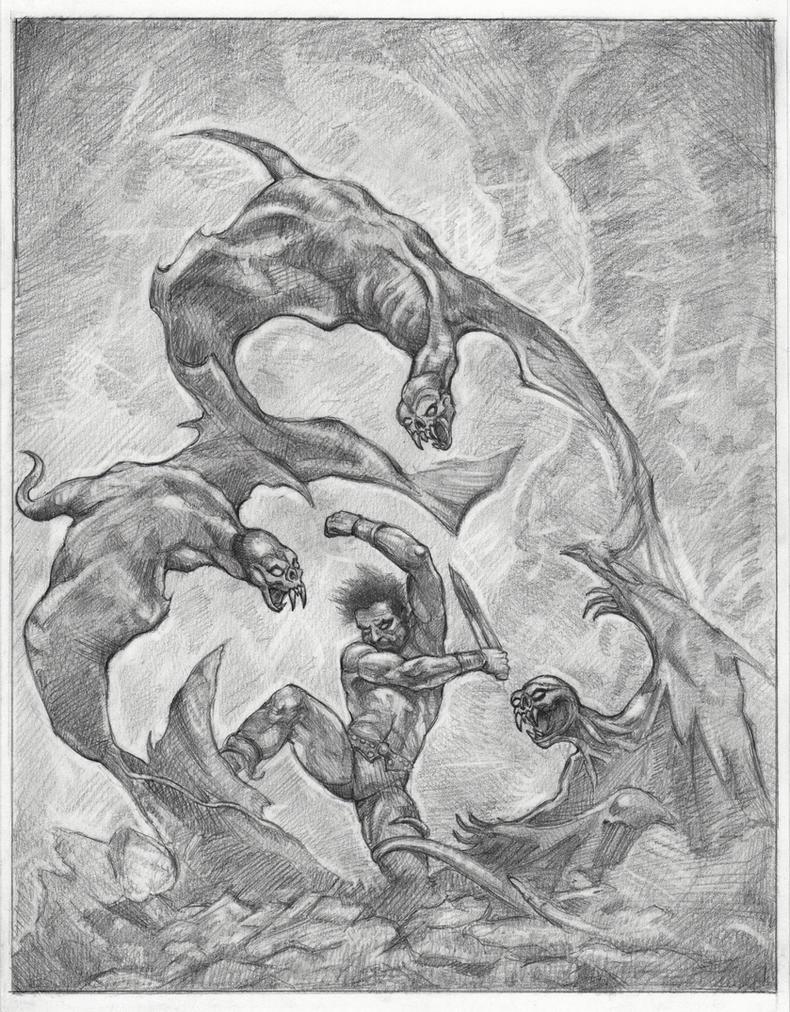 Winged Terror after Frazetta by Rockchris3d