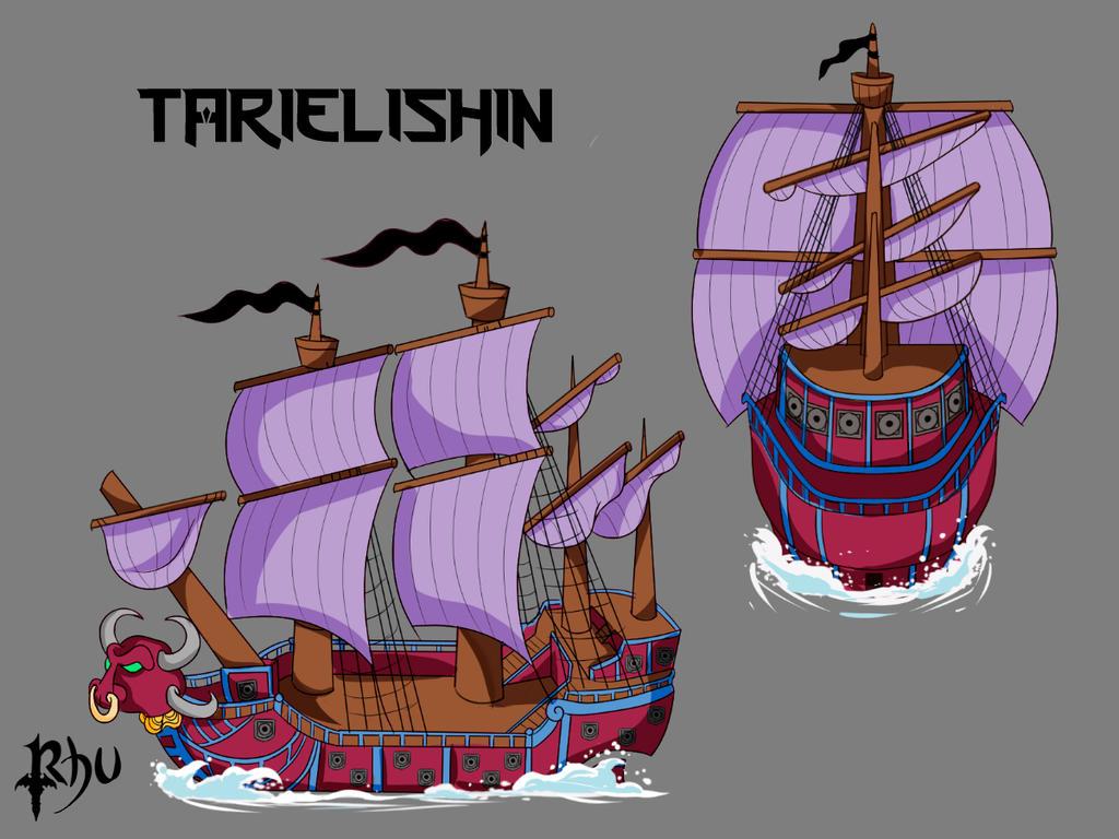 Tarielishin Ship - One Piece by Rhuvia