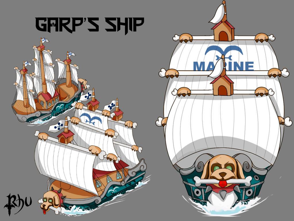 Garp's Ship - One Piece by Rhuvia
