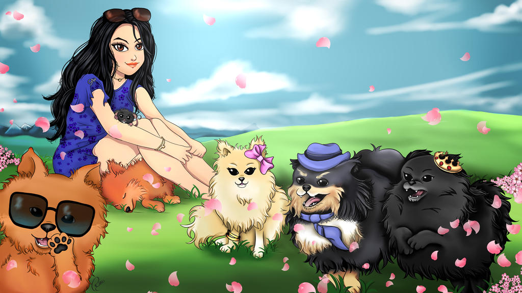 Comission - Carolina and your pets by Rhuvia