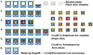 Sonic 3 Remastered Monitors + Items