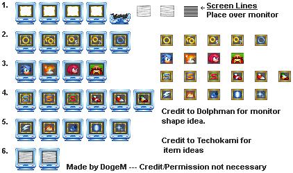 Sonic 3 Remastered Monitors + Items by DogeMayo on DeviantArt