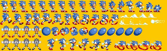 Sonic 3 Remastered Old Sonic Sprites by DogeMayo on DeviantArt