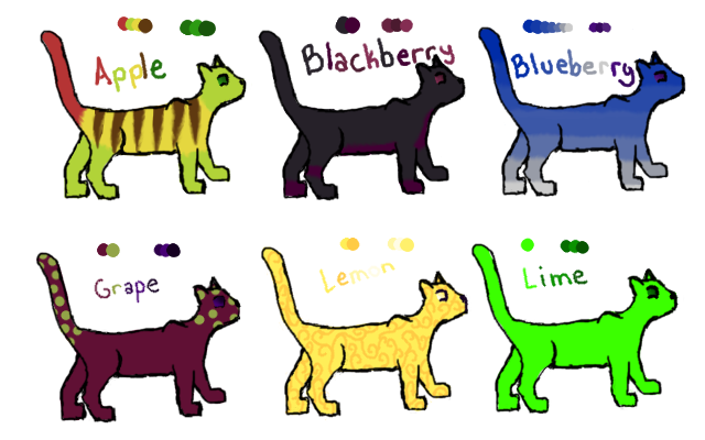 Fruit Cat Adoptables: OPEN by dancer2017