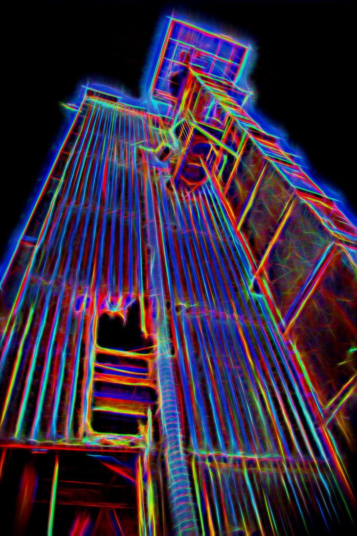 Abandoned - Neon Glow by RunLikeATortus