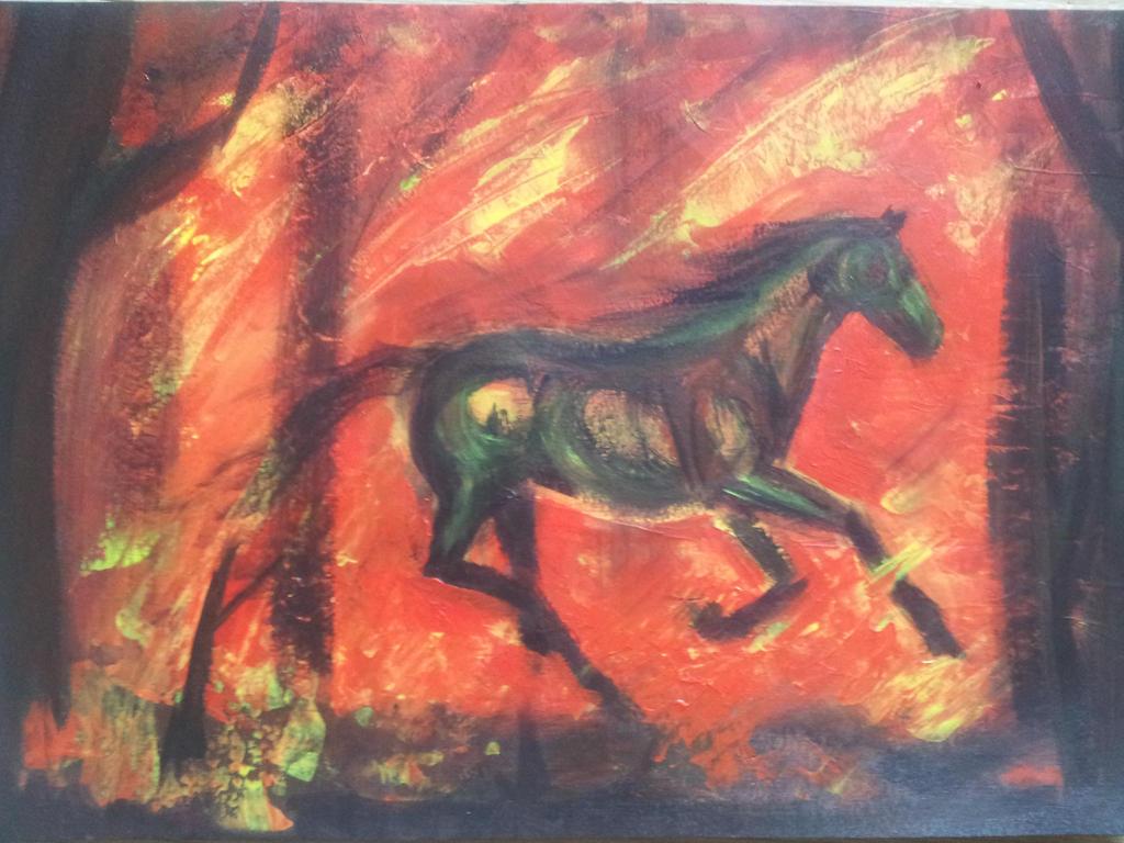 Fire horse by Unicornia93
