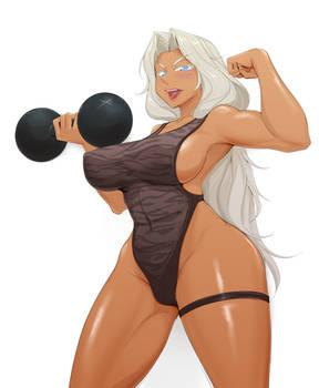 Muscular lady