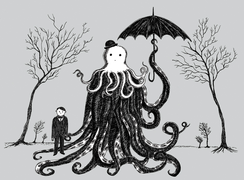 Young Master Lovecraft makes a friend by VonMonkey