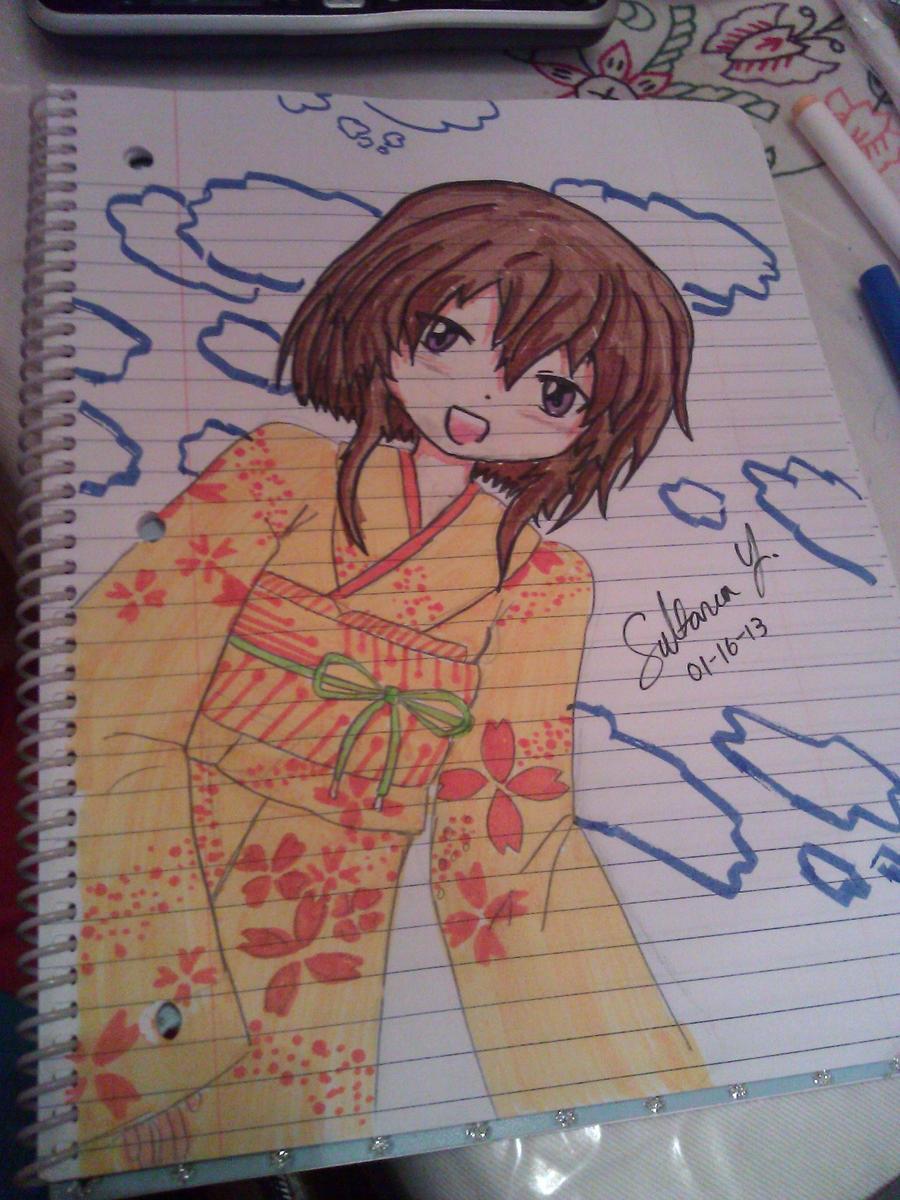 Girl in Kimono by EternalArtGirl740