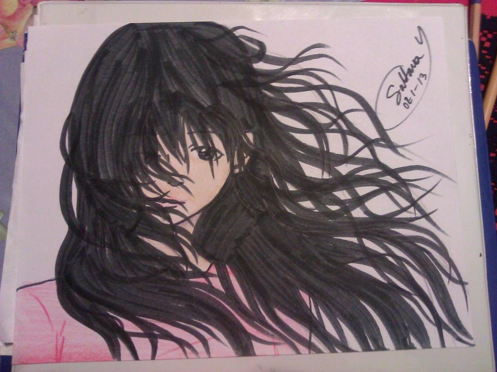 Flowing Hair by EternalArtGirl740
