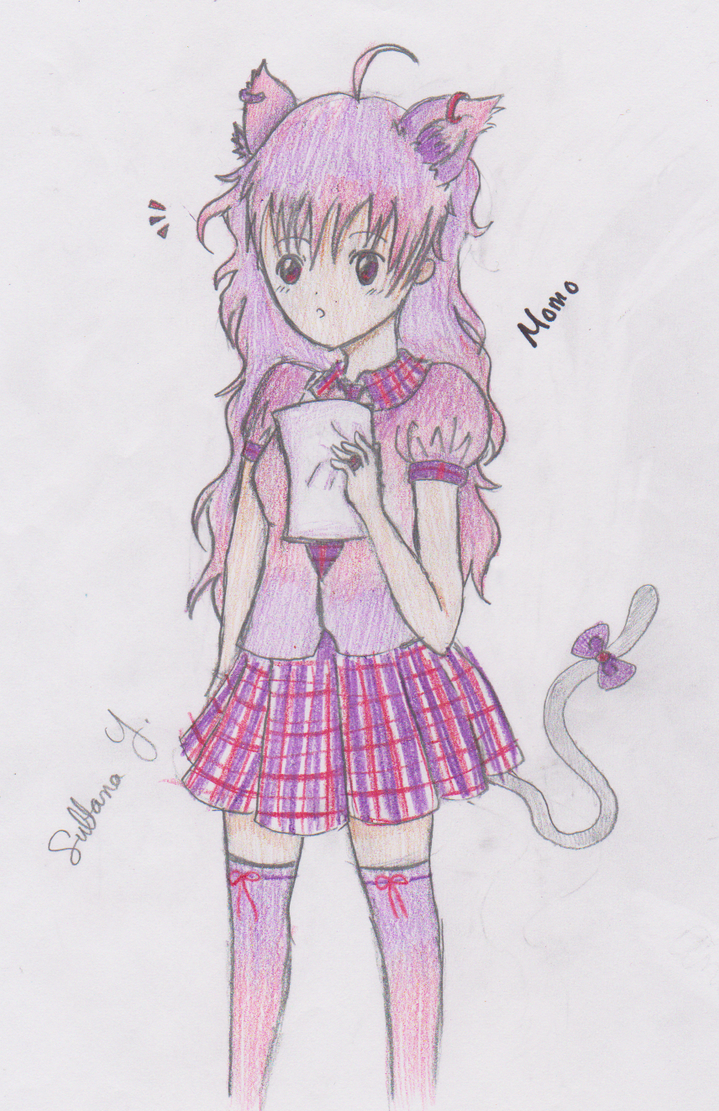 Neko Momo by EternalArtGirl740
