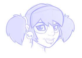 Zoey sketch by ZombieRoomie