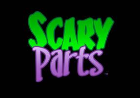 Scary Parts logo font treatment
