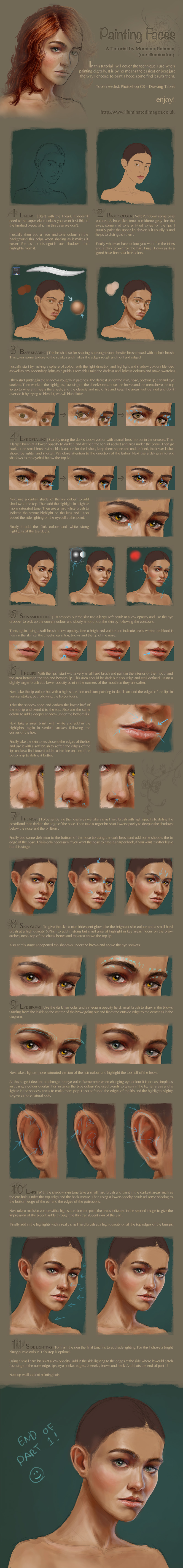 Digital face / portrait painting tutorial part 1 by me-illuminated