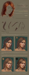 Digital Hair / Portrait Painting Tutorial part 2 by me-illuminated