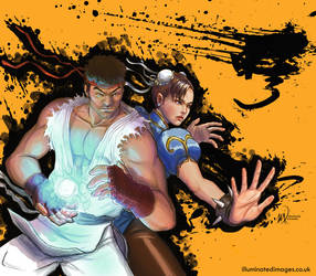 street fighter fanart by me-illuminated