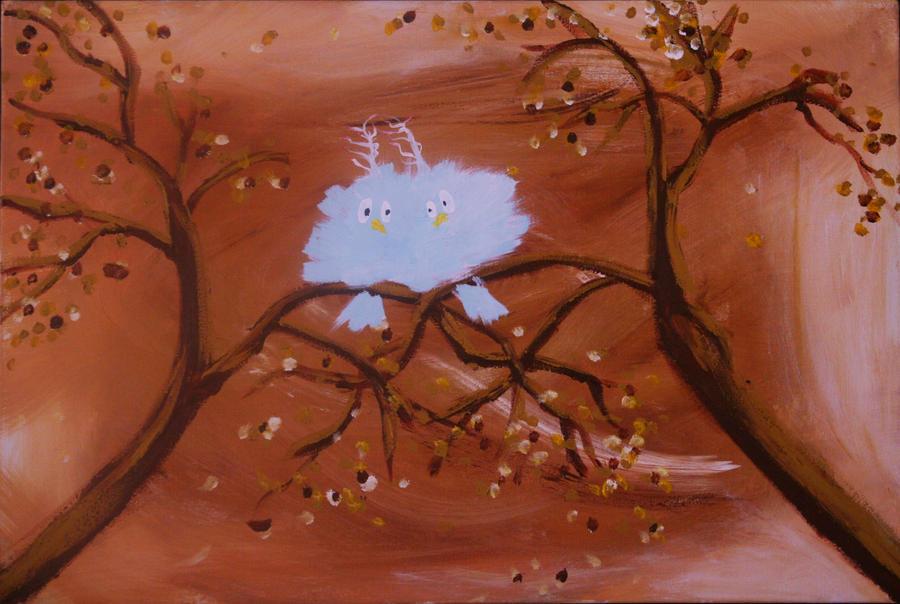 Bird Bluster or Fluffy Love by crazybirds