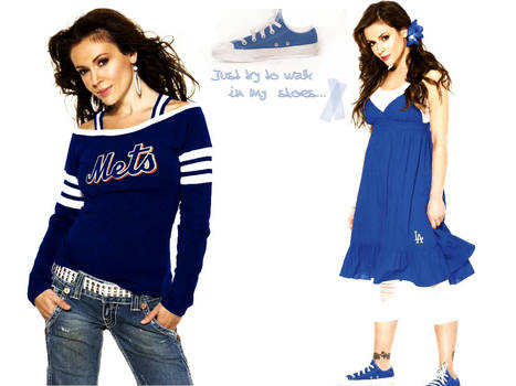 Alyssa Milano goes blue