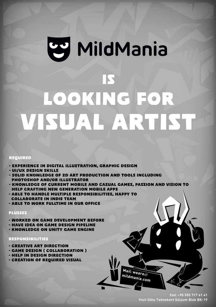 MildMania, Indie Game Studio is now hiring!! by MERTGURKAN