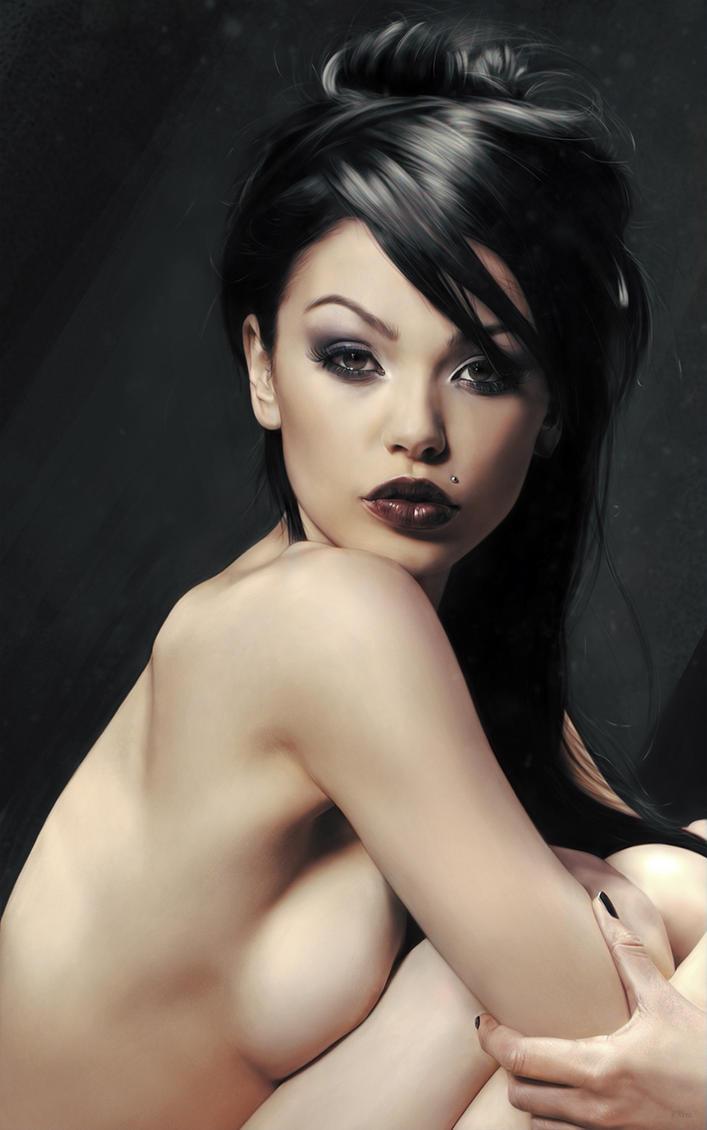hot girl nude potrait