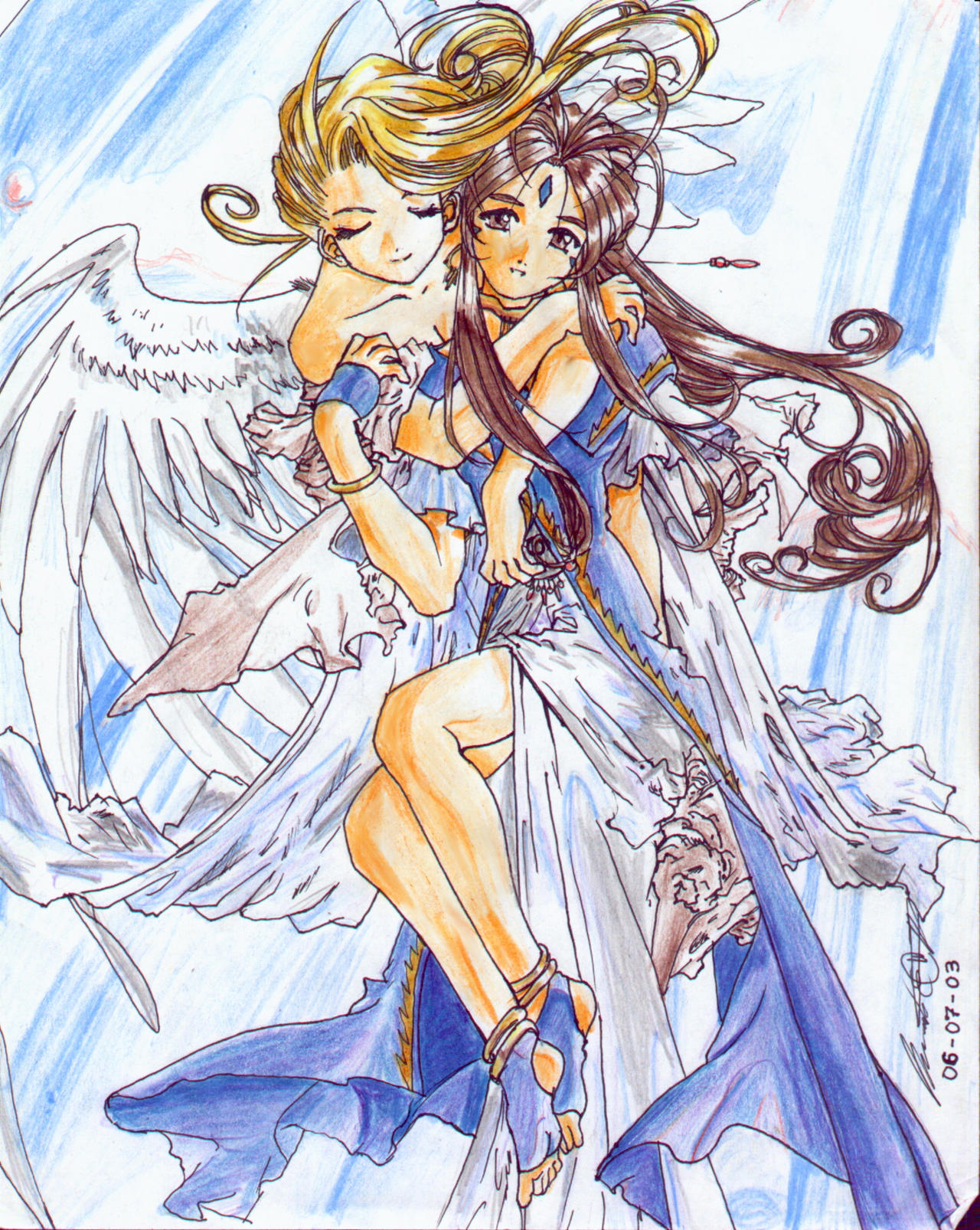 Belldandy and holy bell by krow000666