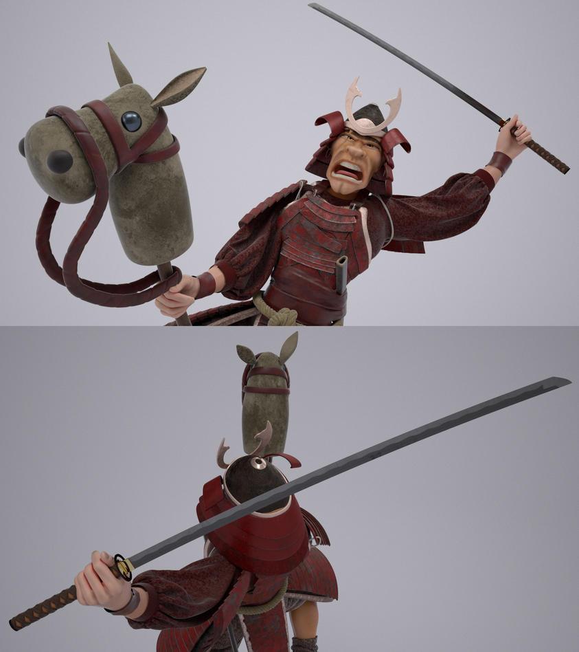 crazy samurai 3d by stormxf3 on deviantart