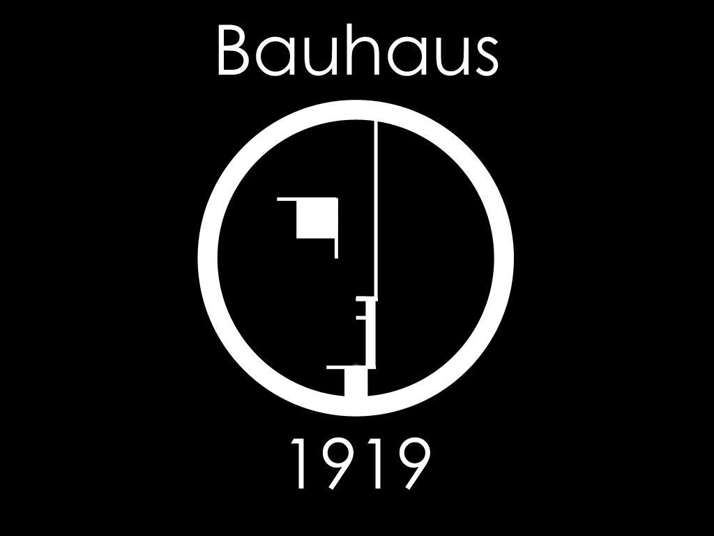 100 A/ños de la Bauhaus Perfil Logotipo de la Bauhaus 1919 Sudadera