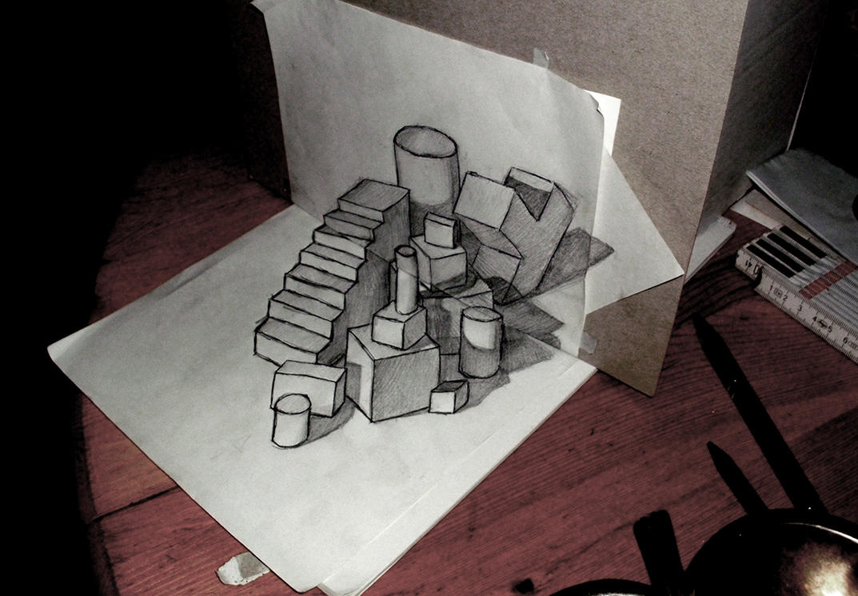 Geometric Paper Shapes   3d