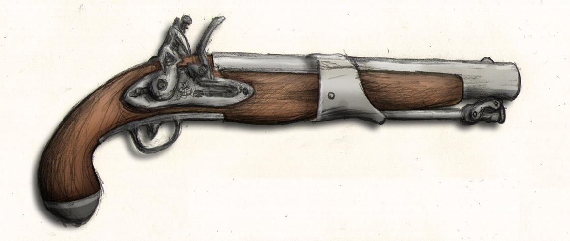 Flintlock Pistol by FireflyAlpha