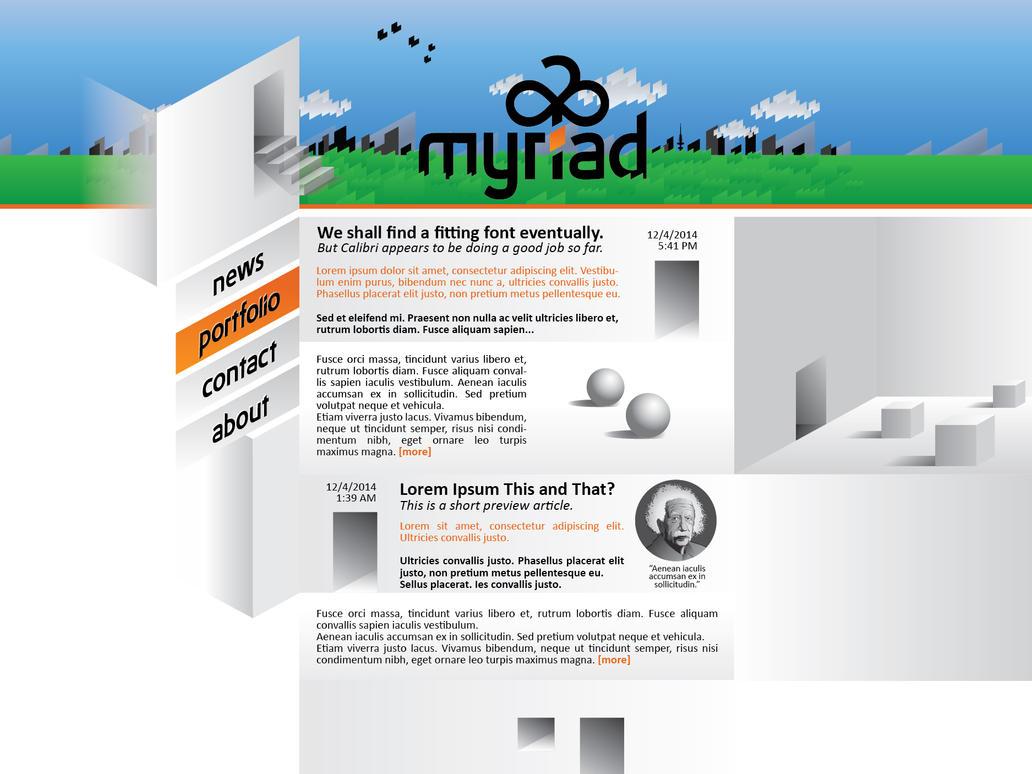 myriad Webdesign WIP #2 by FireflyAlpha