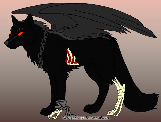 Deadzone Winged Hellhound Ref by xMaikoWolfx