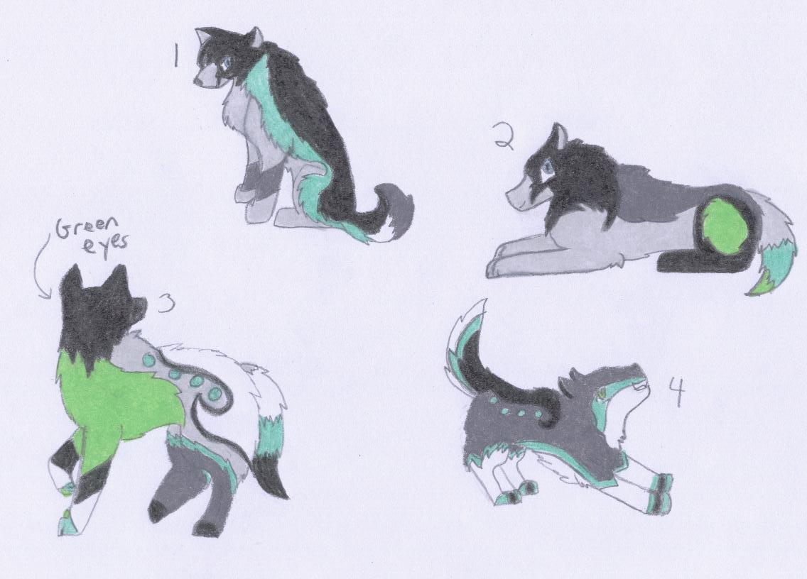 Zora x Desi - pups by xMaikoWolfx