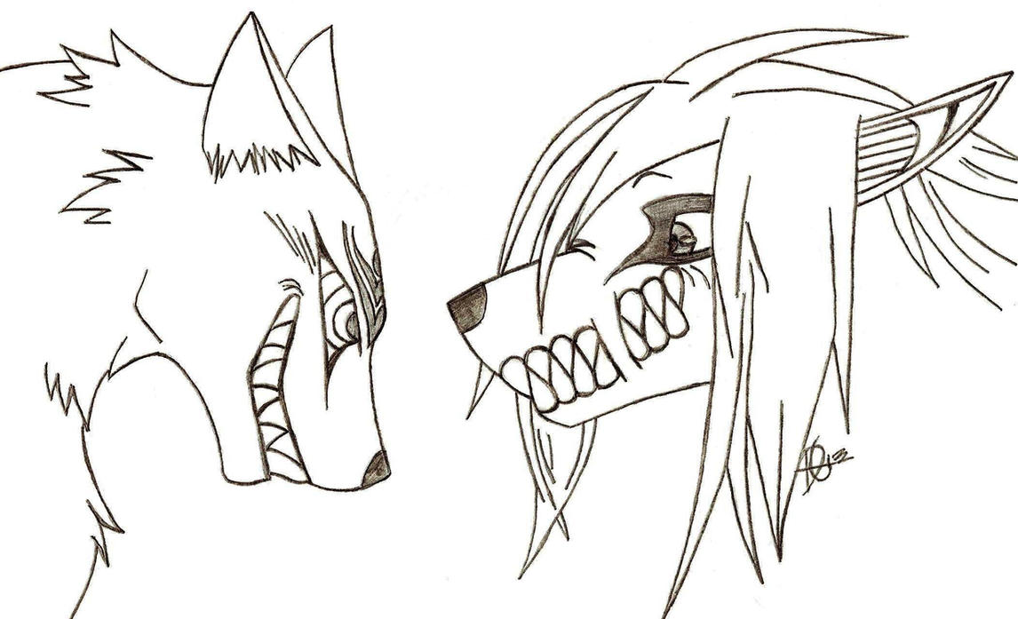 Madarao And Eren Wolf Crossover *gift* By Xmaikowolfx How To Draw A Cat  Sleeping