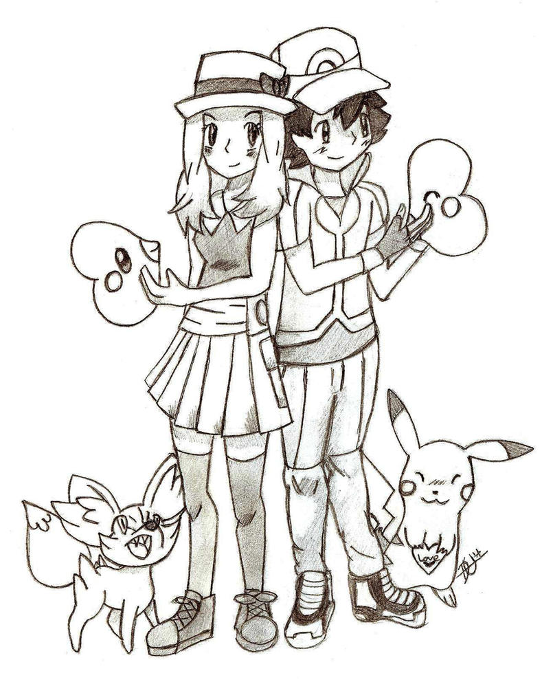 Amourshipping Valentines Day 2014   by xMaikoWolfxAmourshipping Fan Art