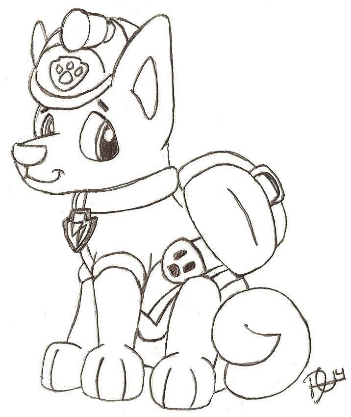 Everest From Paw Patrol Coloring Pages With Name Coloring