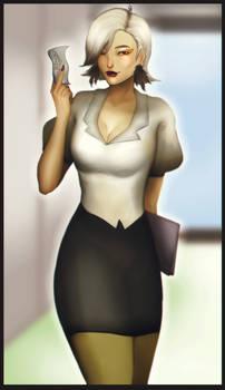 Secretary bird Washimi (humanized)