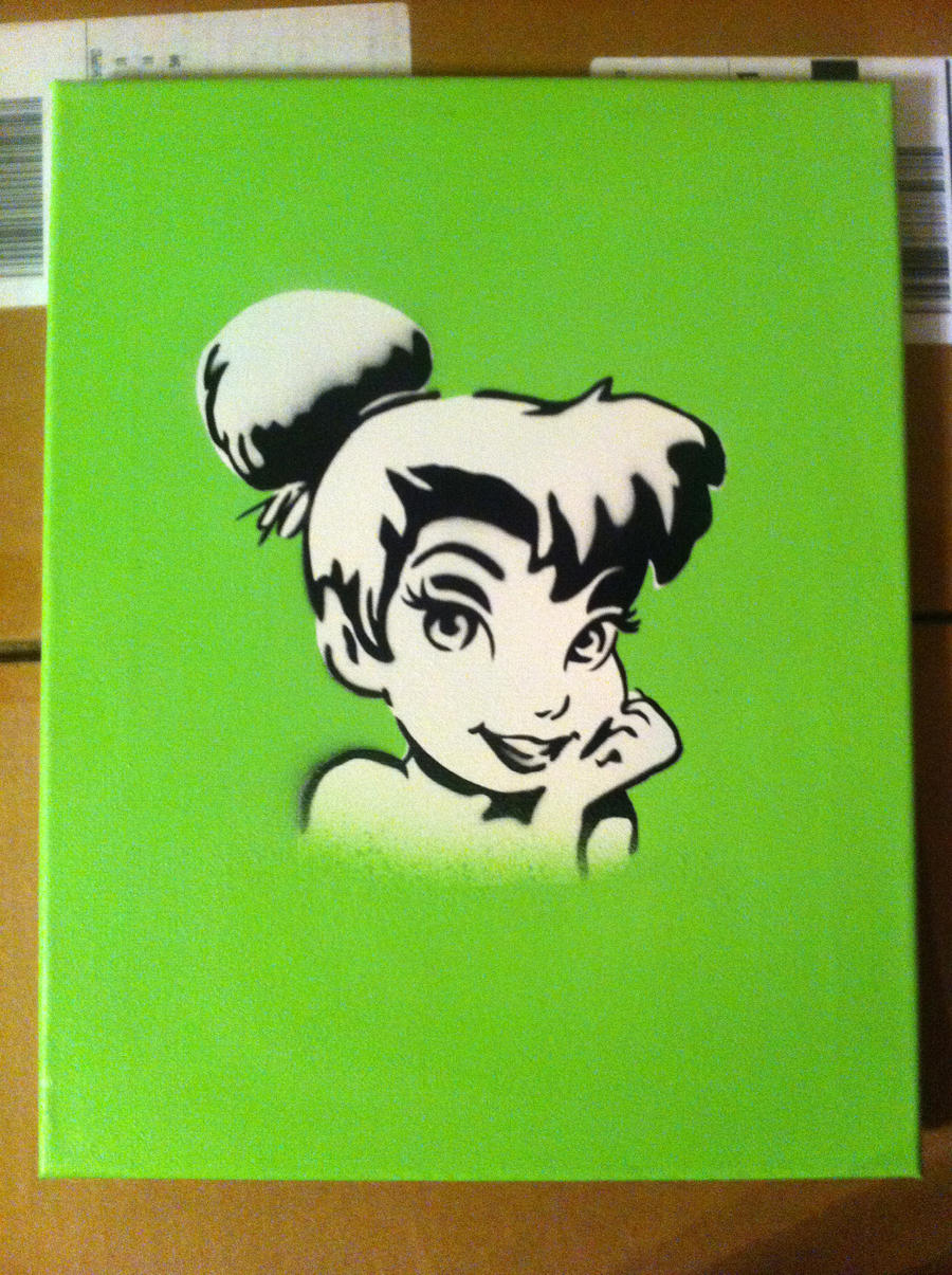 Tinkerbell stencil by t3hs3kks on deviantart for Tinkerbell stencil