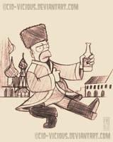 Homer Drunkensky by Cid-Vicious