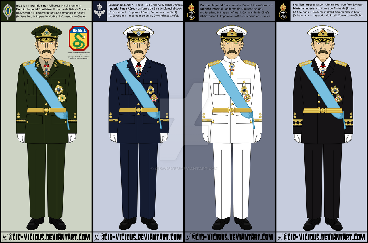 Army navy marines air force uniforms