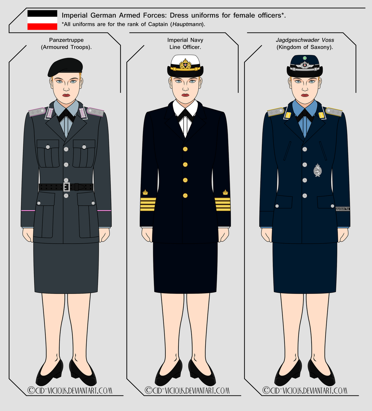 Luxury Navy Uniform Women Uniform Full Dress Blue Navy